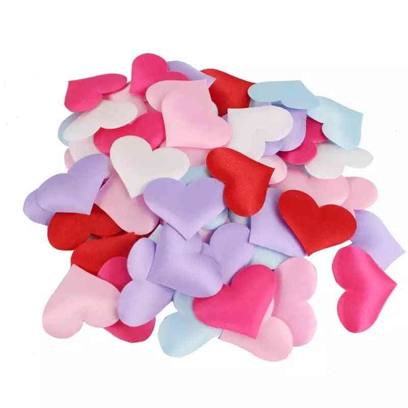 Wedding Sponge Heart Petals Confetti Bed Shaped Fabric Artificial Flower