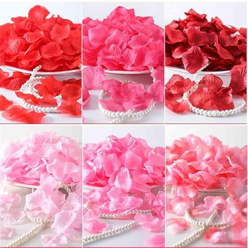 Artificial  Silk Rose Petals For Wedding Decoration