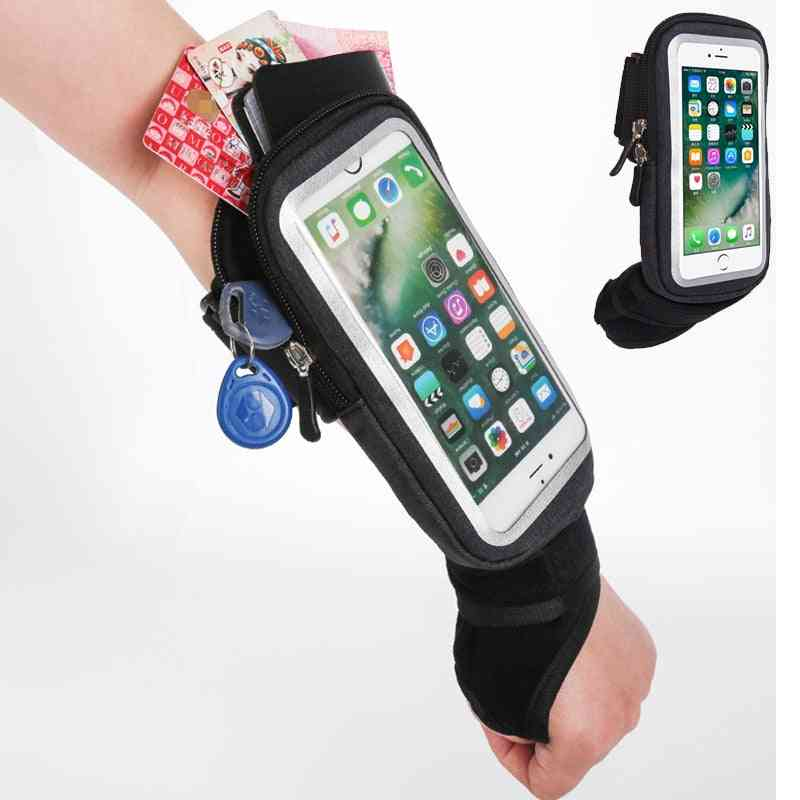 Cycling Wrist Bag, Running Armband Touch Screen Cell Phone Case