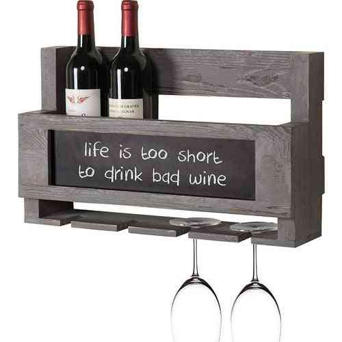Anthracite Wood Wine Rack