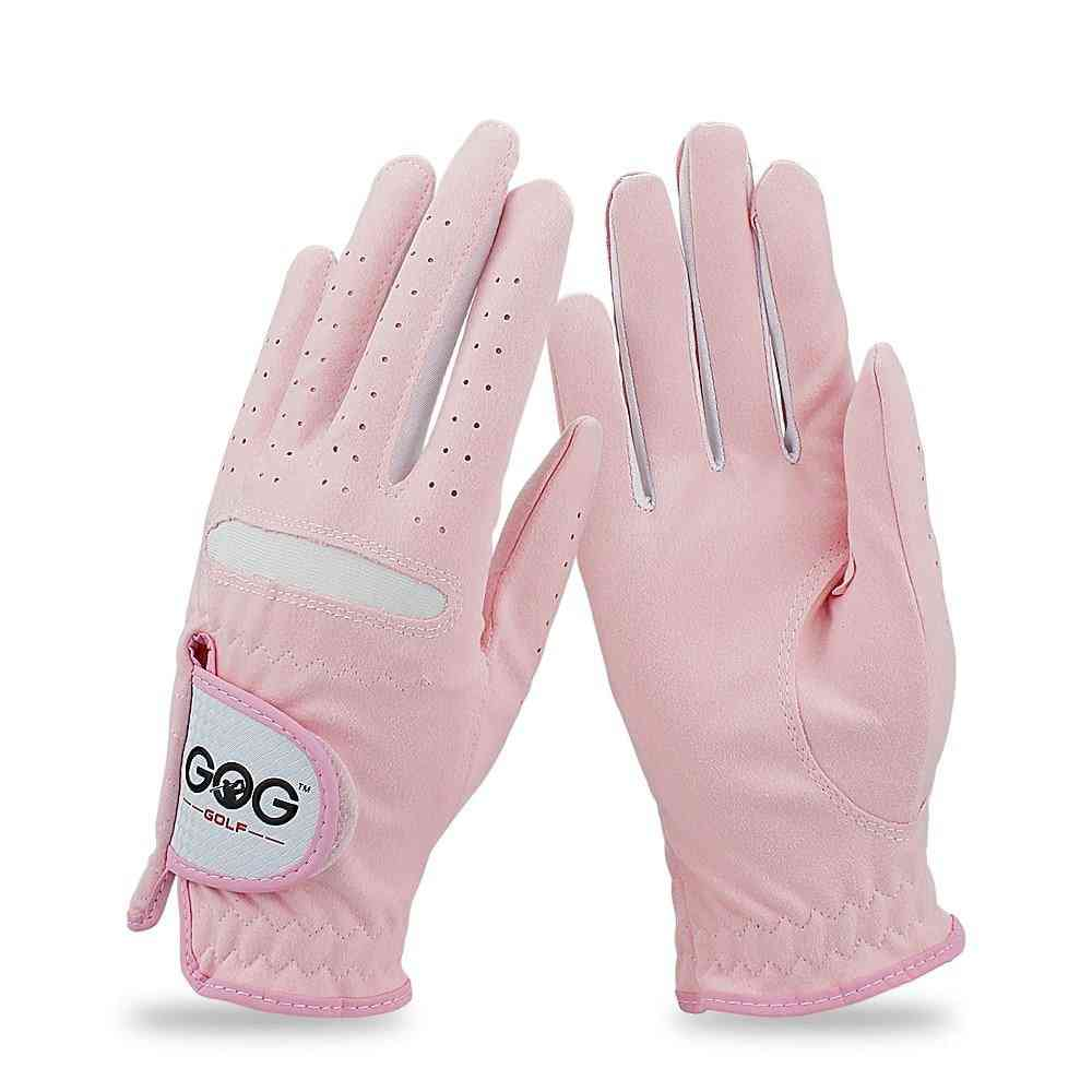 Breathable Soft Fabric Women Left And Right-hand Golf_gloves