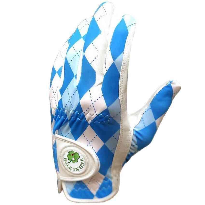 Leather Breathable Anti Slip Golf Gloves For Men