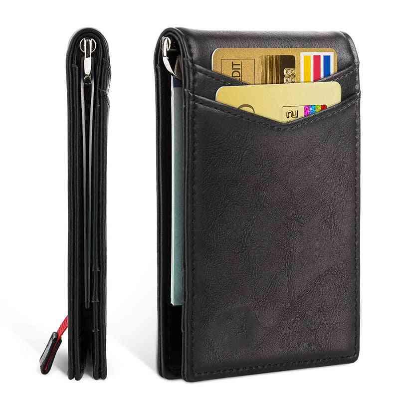 Men Genuine Leather Card Holder Wallet Purse