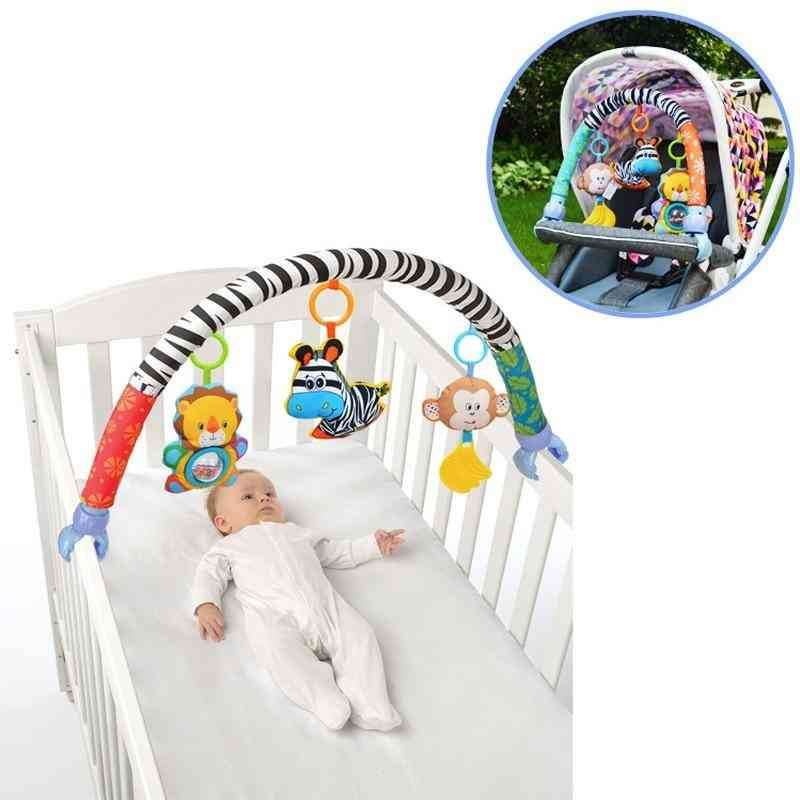 Baby Stroller/bed/crib Hanging For Tots Cots Rattles Seat Plush Stroller Mobile Animals Zebra Rattles