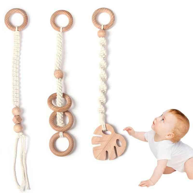 Baby Nordic Gym Frame Pendant Wooden Rack Crochet Nursing Hanging Play For Car Bed Kids Room Decoration