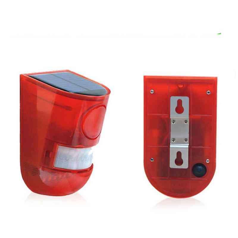 Solar Alarm Light Red Wireless Ip65 Motion Sensor