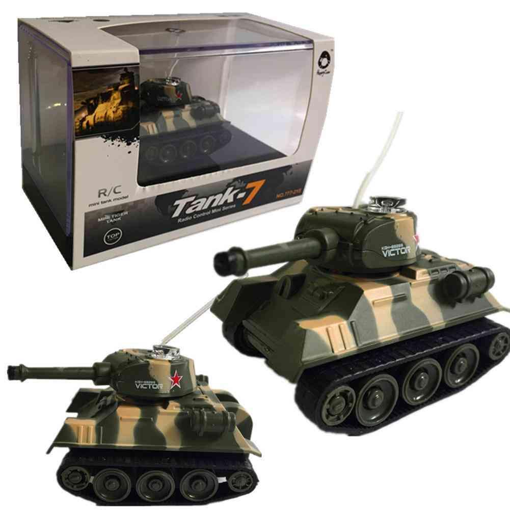 Super Mini Tiger Rc Tank Model, Imitate Scale, Remote Radio Control Electronic For, Kids