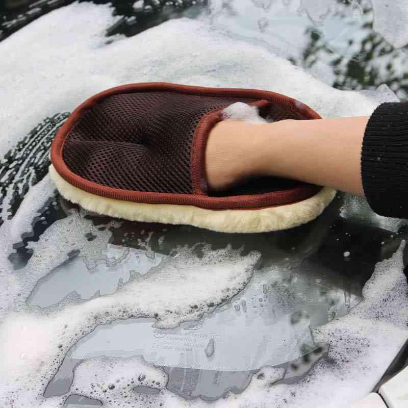 Car Brush Cleaner Wool Soft Car Washing Gloves / Brush
