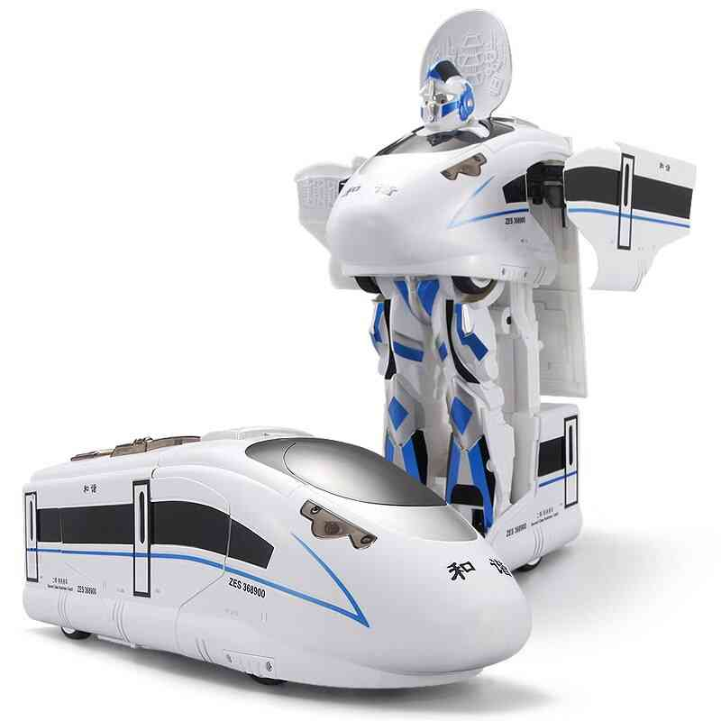 Remote Control Rc Robot Train Voice Control, Toy Model, One Key Deformation With Sound