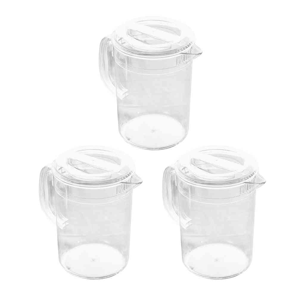 Clear Pitcher With Lid For Water Lemonade Milk
