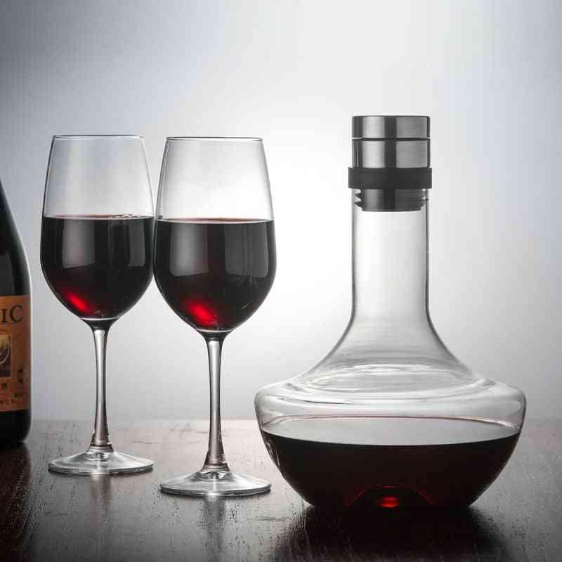Crystal Red Wine Brandy Champagne Glass Decanter Bottle Jug Pourer