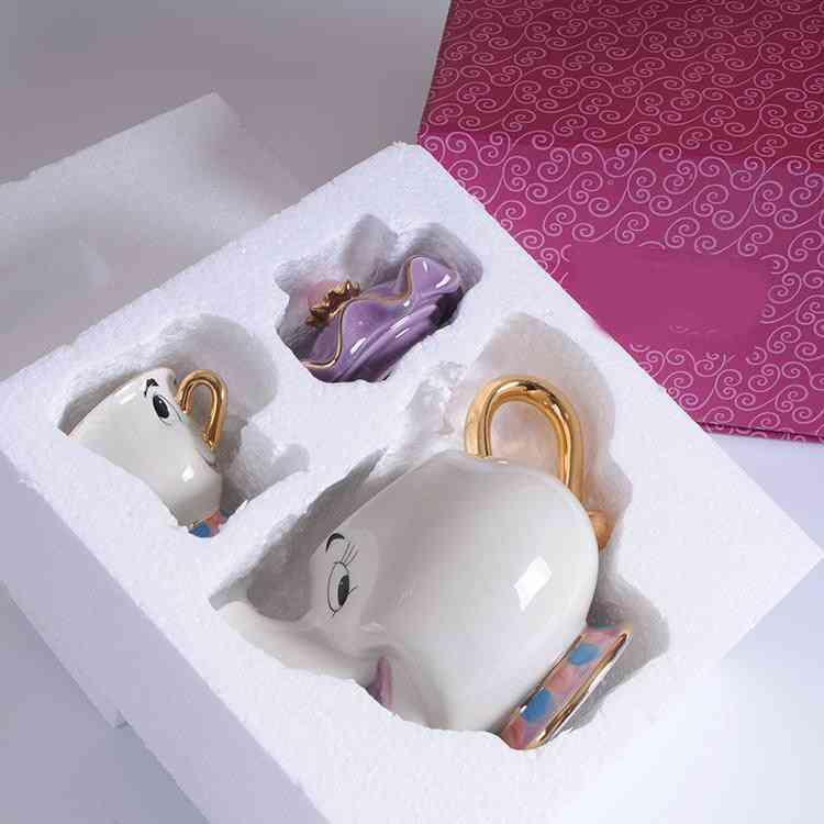 Cartoon Beauty And The Beast Teapot Mug