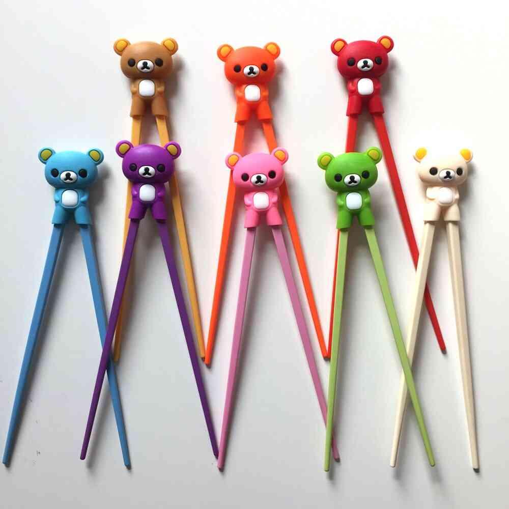 Multi-colour Cute Bear Panda Cat Learning Training Chopsticks