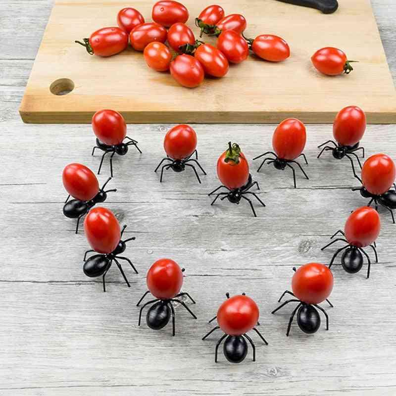 Fruit Picks Decoration Ant Shape Forks Snack Cake Dessert Tableware