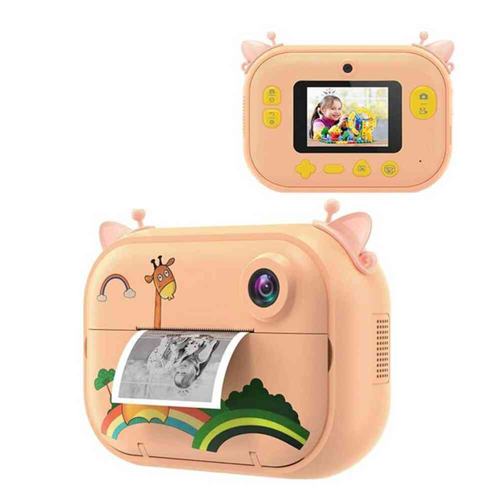 Kids Instant Print Camera, Hd Digital Video Recorder, Zero Ink Toy, Ips Screen