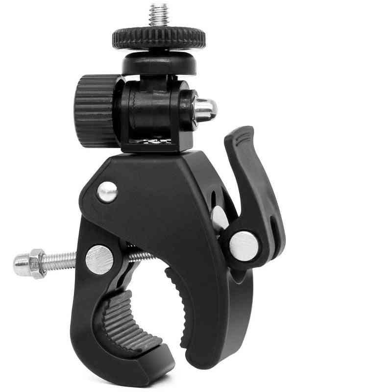 Bike, Bicycle, Motorcycle Handlebar Handle Clamp Bar Camera Mount, Tripod Adapter, Adjustable Hand