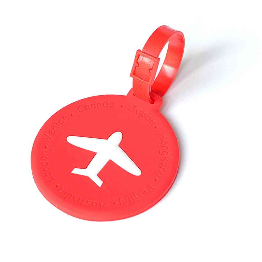 Fashionable Silicone Travel Luggage Tags Baggage Suitcase Bag