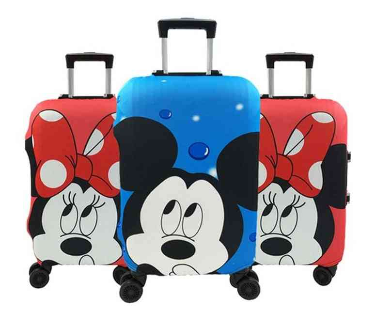 Minnie And Mickey Travel Suitcase Protective Cover Elastic Dust Case