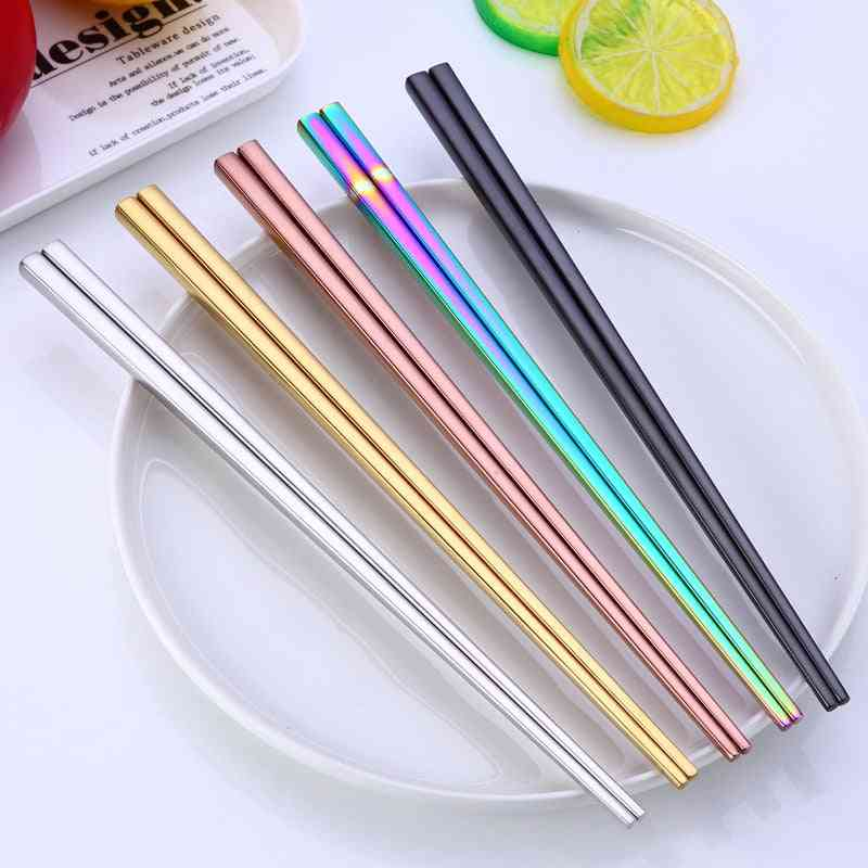Korean Stainless Steel Laser Engraving Patterns Reusable Chopstick
