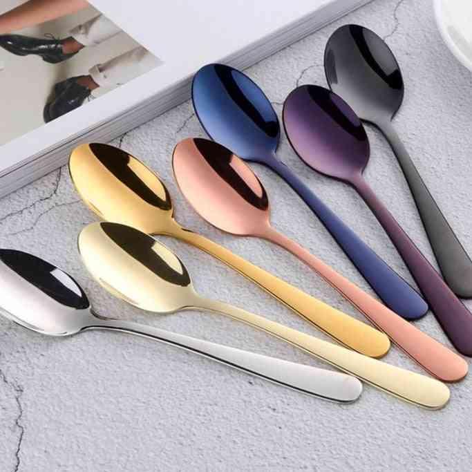 Stainless Steel Cake Fruit Spoons