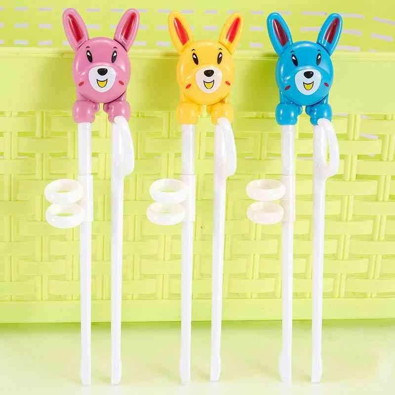 Kids Training Helper Cartoon Portable Chopsticks