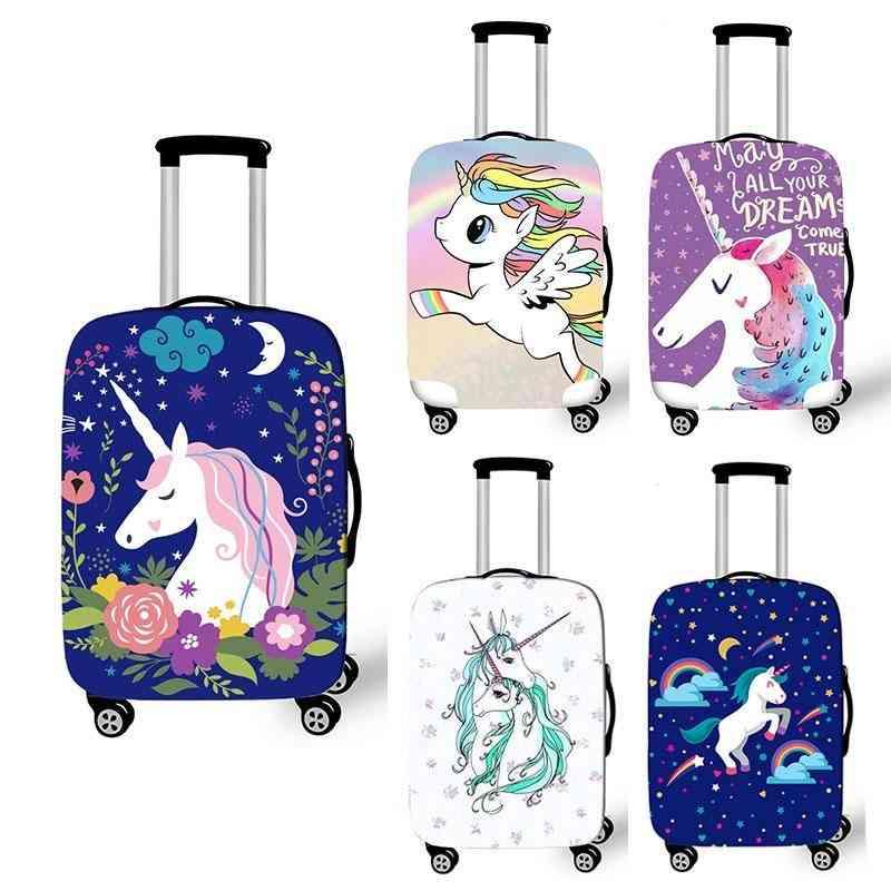 Cartoon Unicorn Luggage Cover