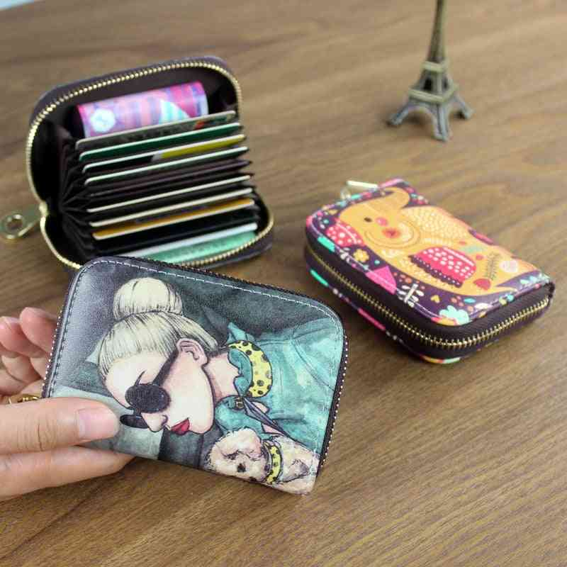 Women Card Holder Wallet Pu Leather Case