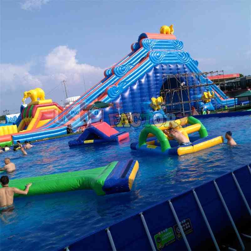 Large Number Of Products For Sale's Water Park Inflatable Slide