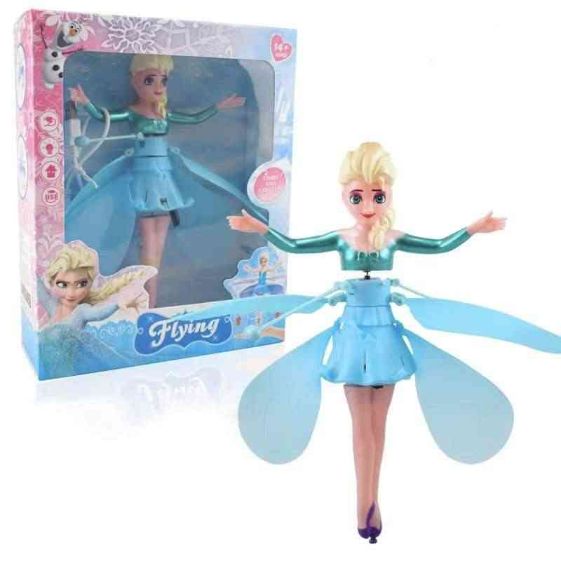 Princess Elsa Fairy, Magical Flying Suspended Aircraft Control, Dolls