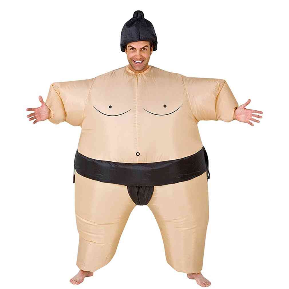 Inflatable Sumo Costume Suits, Wrestler Halloween For Adult/children, Fat Man, Party Cosplay, Blowup Clothes