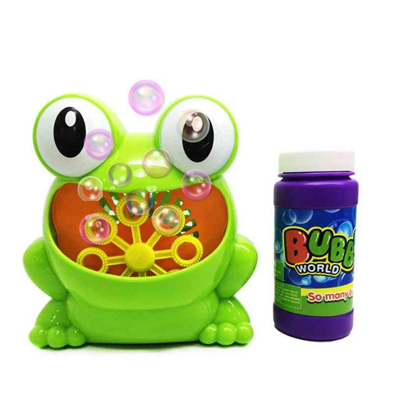 Frog Automatic Bubble Machine Gun, Soap Blower, Outdoor Kids, Child Toy For Kids