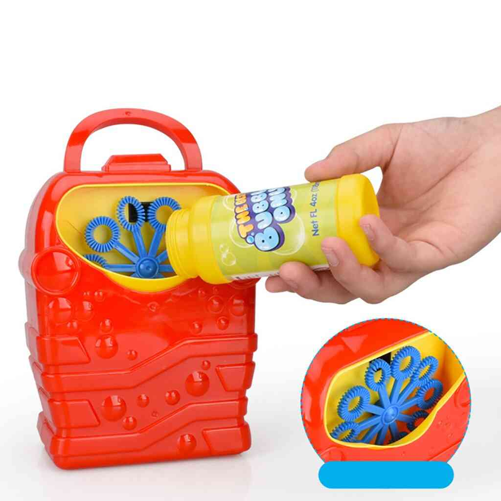 Bubble Machine Outdoor Toy,, Durable, Automatic Colorful Blower, Maker, Kids Baby Music, Electric