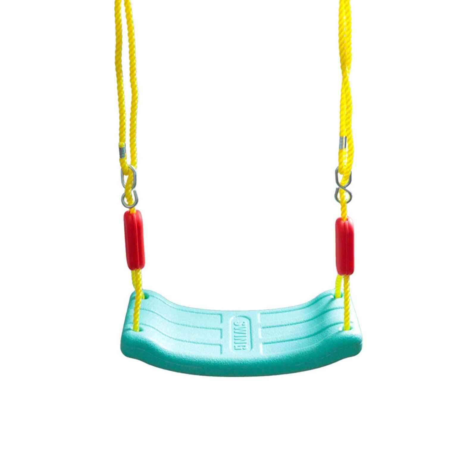 Kids Outdoor Indoor Garden Plastic Swing Seat Accessories With Adjustable Rope For, Sport