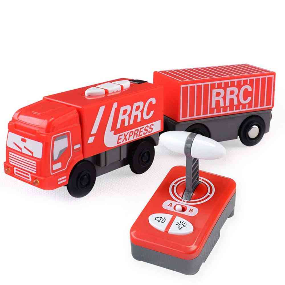 Remote Control Train Set Rc Electric Express Truck Magnetic Train Carriage Wooden Track Electric Toy