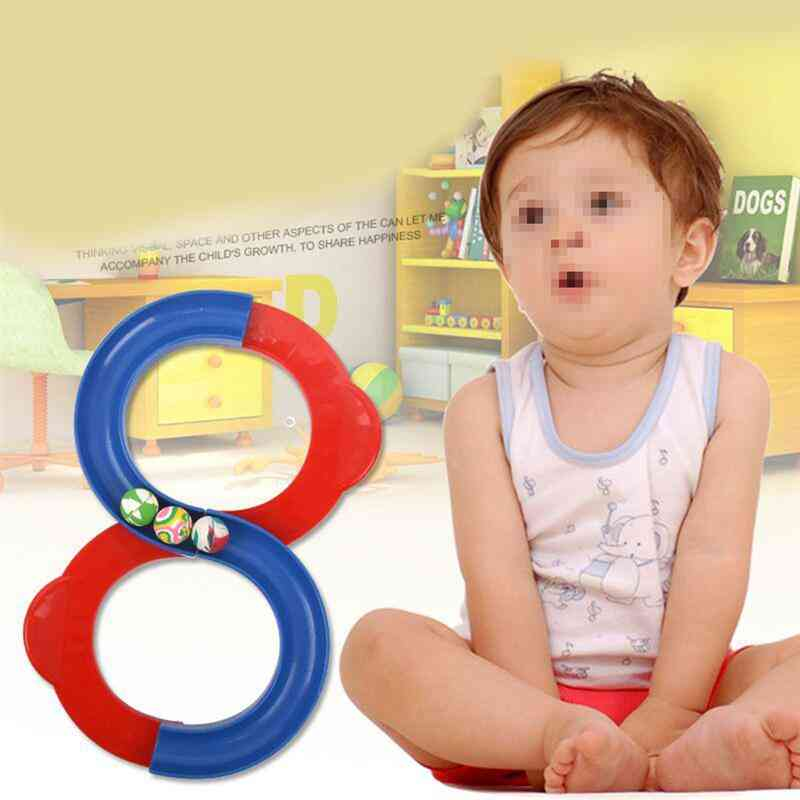 Assembled Track Orbital Ball Creative Construction Track Attention Training Hand Eye (mixed Color 1 Track + 3 Balls)