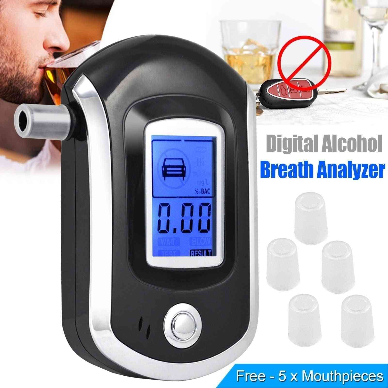 Digital Breath Alcohol Tester Breathalyzer Alcohol Breath Tester Alcohol Detector