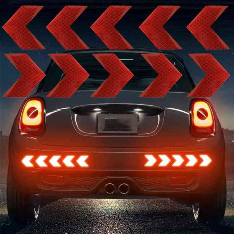 Reflective Arrow Sign Tape Warning Safety Sticker For Car Bumper
