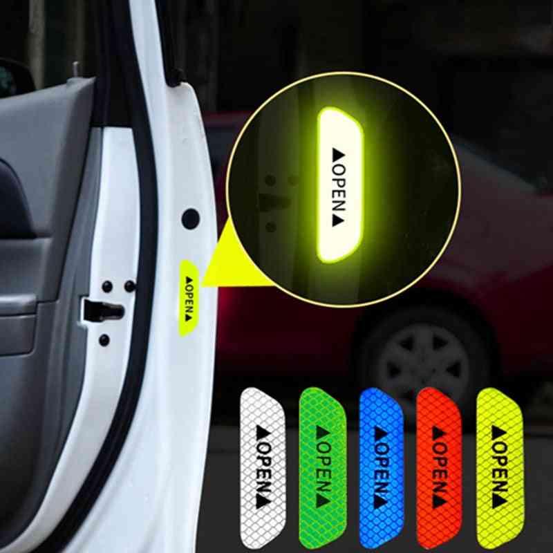 Auto Car Door Open Sign Warning Mark Sticker Reflective Tape