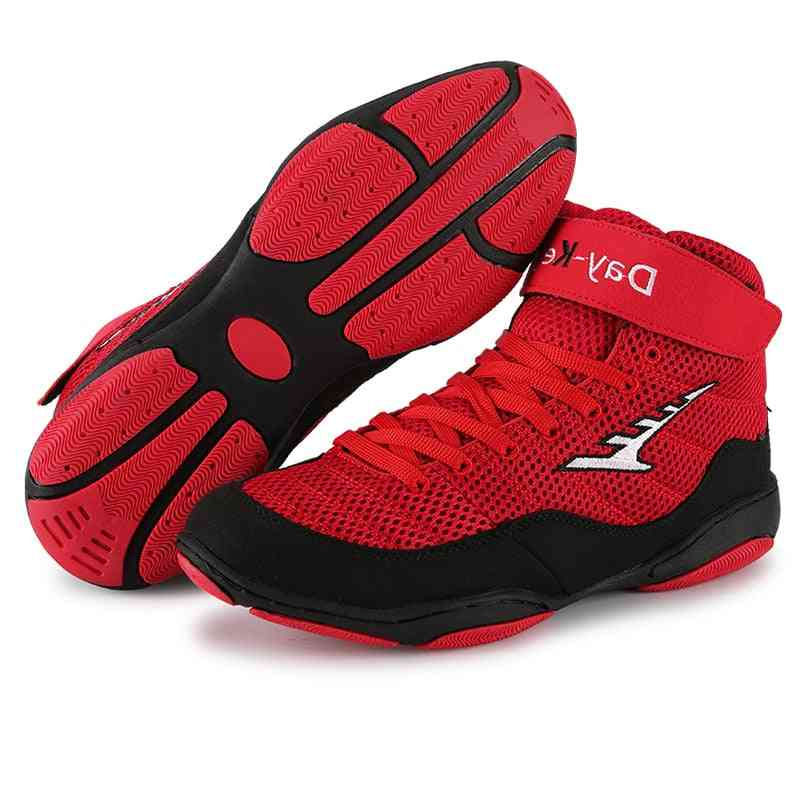 Men Professional Boxing Wrestling Fighting Weightlift Shoes