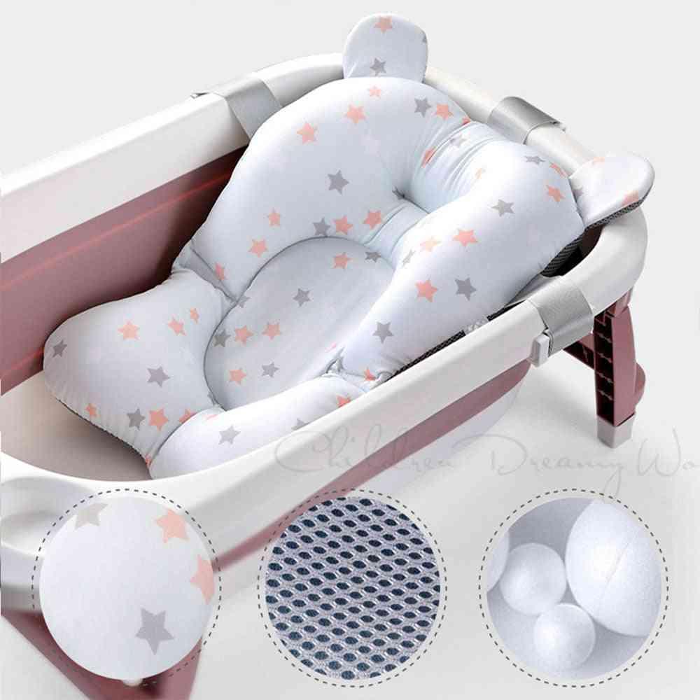 Baby Shower Bath Tub Pad Baby Foldable Non-slip Bathtub Float Seat