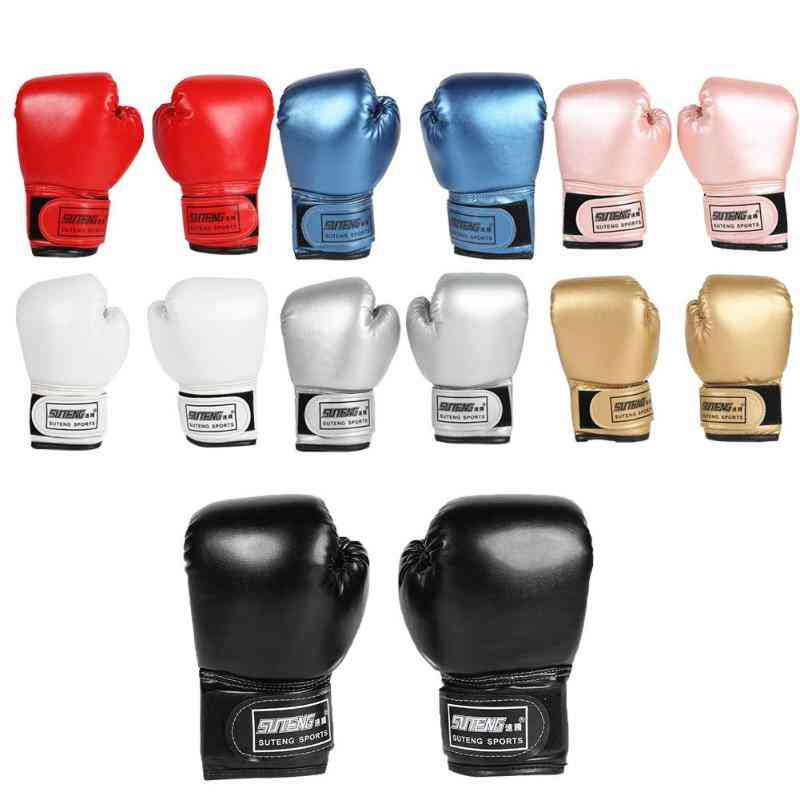 Kids Pu Leather  Professional Boxing Training Fighting Gloves