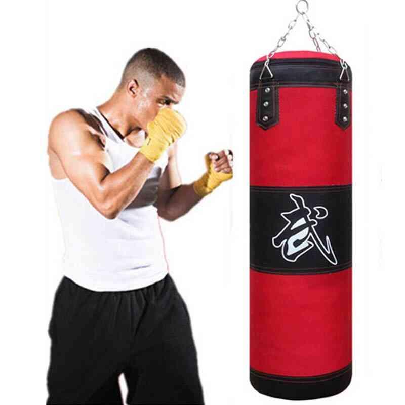 60cm 80cm 100cm 120cm Empty Boxing Punching Bag With Glove Wrist Guard