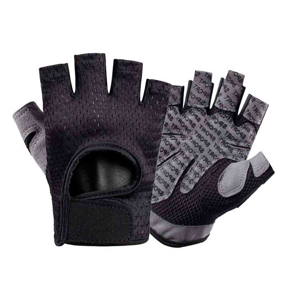 Breathable Fitness  Silicone Palm Hollow Back Gym Gloves