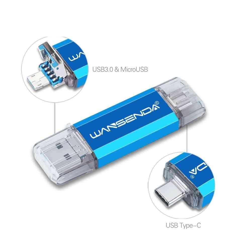 Usb Flash Drive Usb3.0 & Type-c & Micro Usb Pen Drive/memory Stick