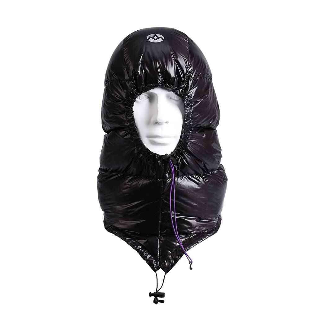 Outdoor Urltra-light Goose Down Hat For Envelope Sleeping Bag