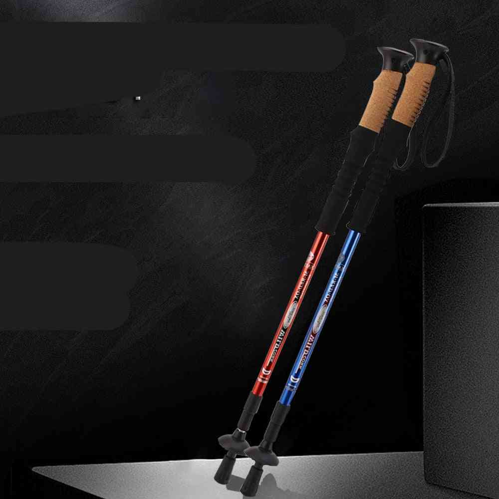 Aluminum Alloy Telescopic Trekking Hiking Poles Ultralight Walking Sticks