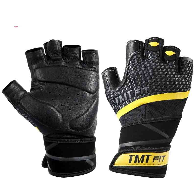 Leather Fitness Gym Gloves