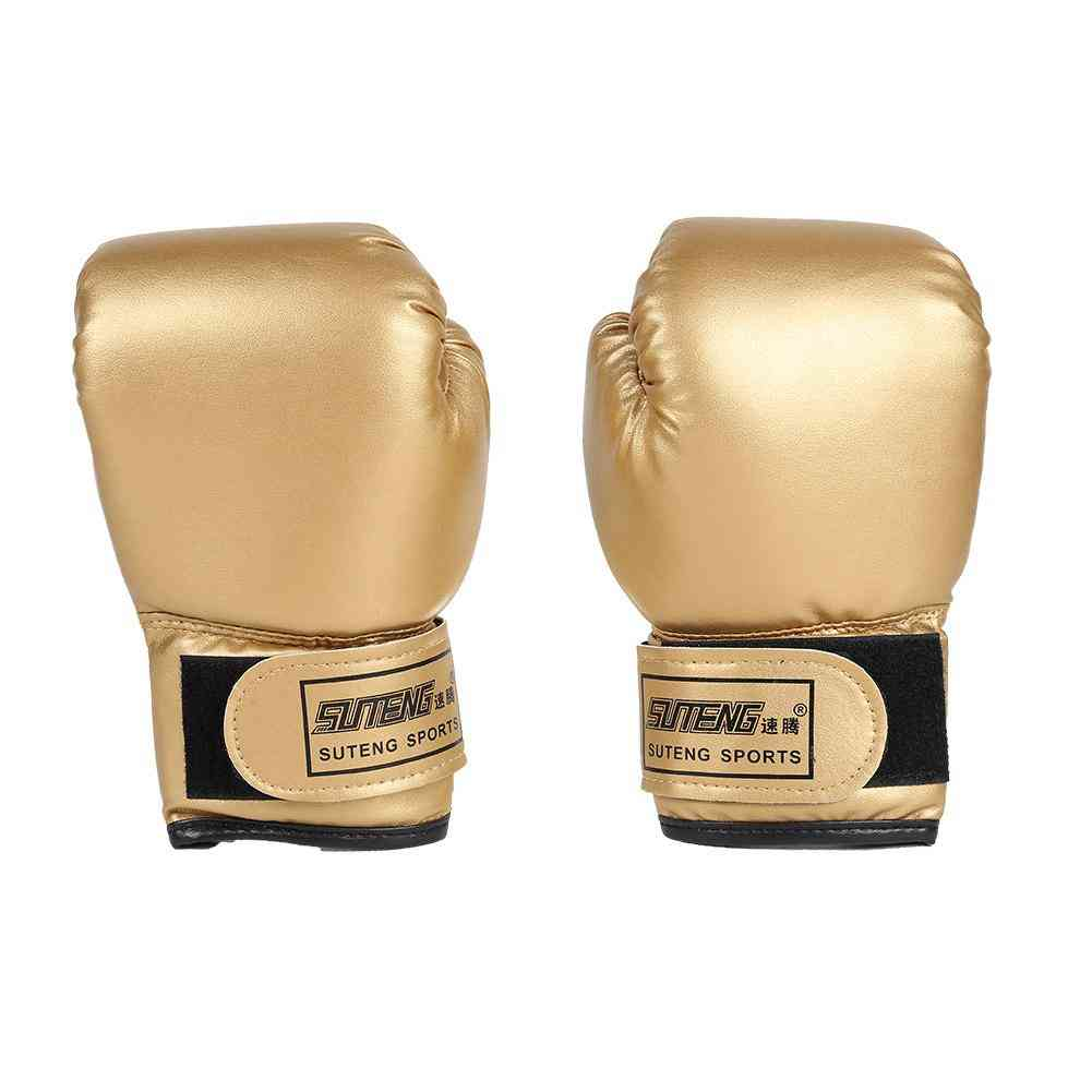 2pcs Boxing Training Fighting Leather Kid Sparring Kickboxing Gloves