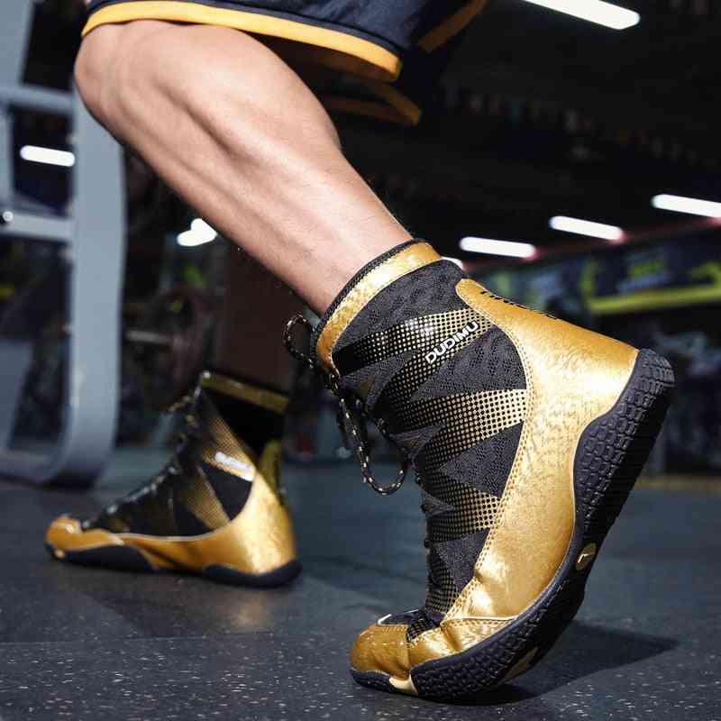 Men Professional Fighting Wrestling Shoes
