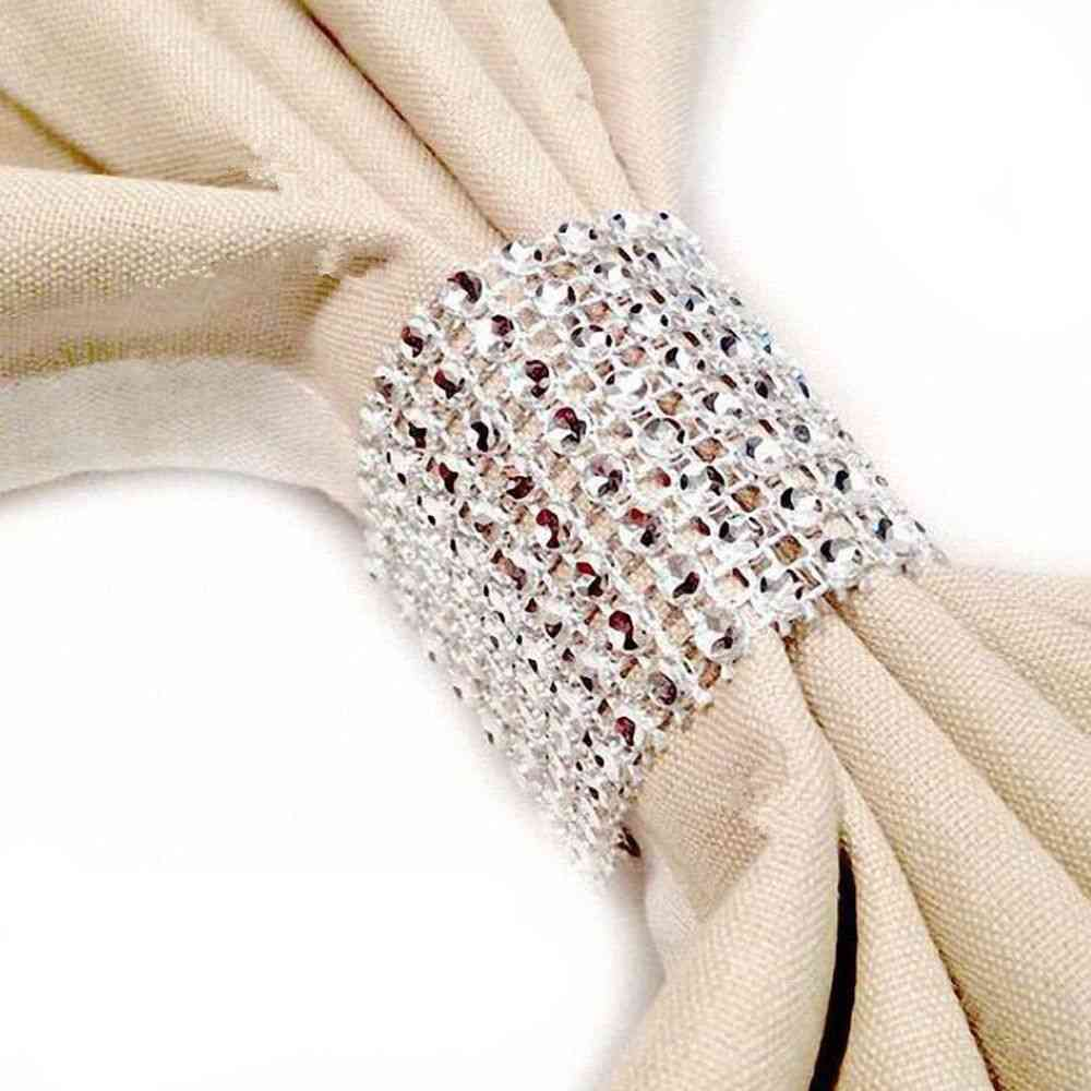 Diamond Hollow Buckle Curtains Tie Bands